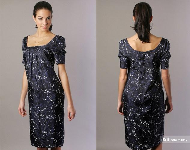 Шелковое платье Rene Lezard