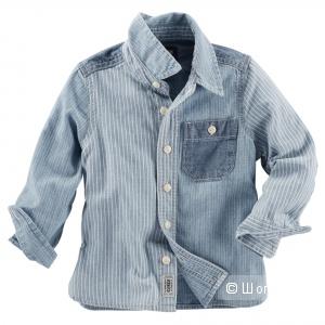 Лоскутная рубашка OSHKOSH для мальчика