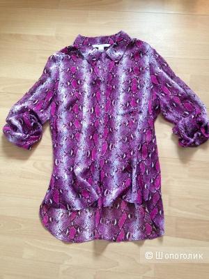 Новая блузка-рубашка DIANE VON FURSTENBERG размер 10 -48 рос. Натуральный шелк