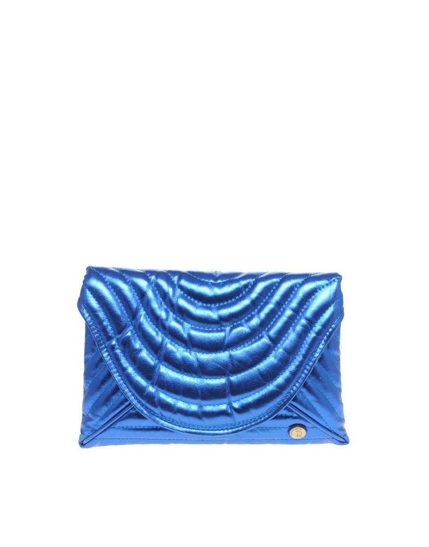Синий клатч-металлик Red or Dead
