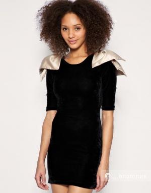 Черное бархатное платье Paprika