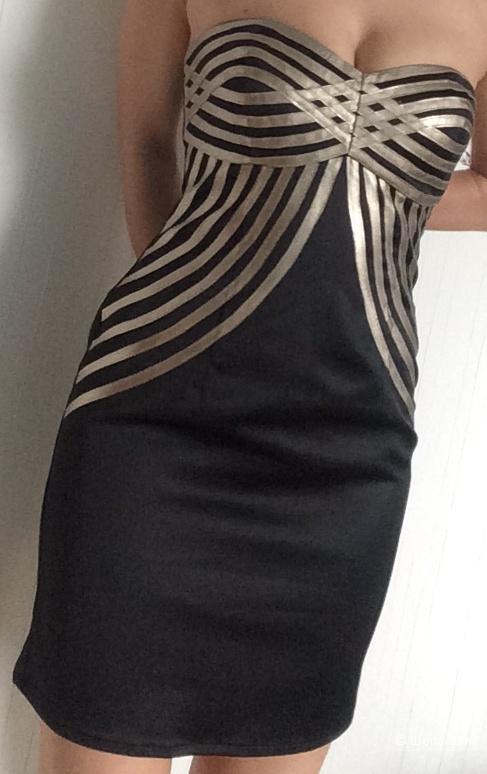 Черное с золотым платье-бондо