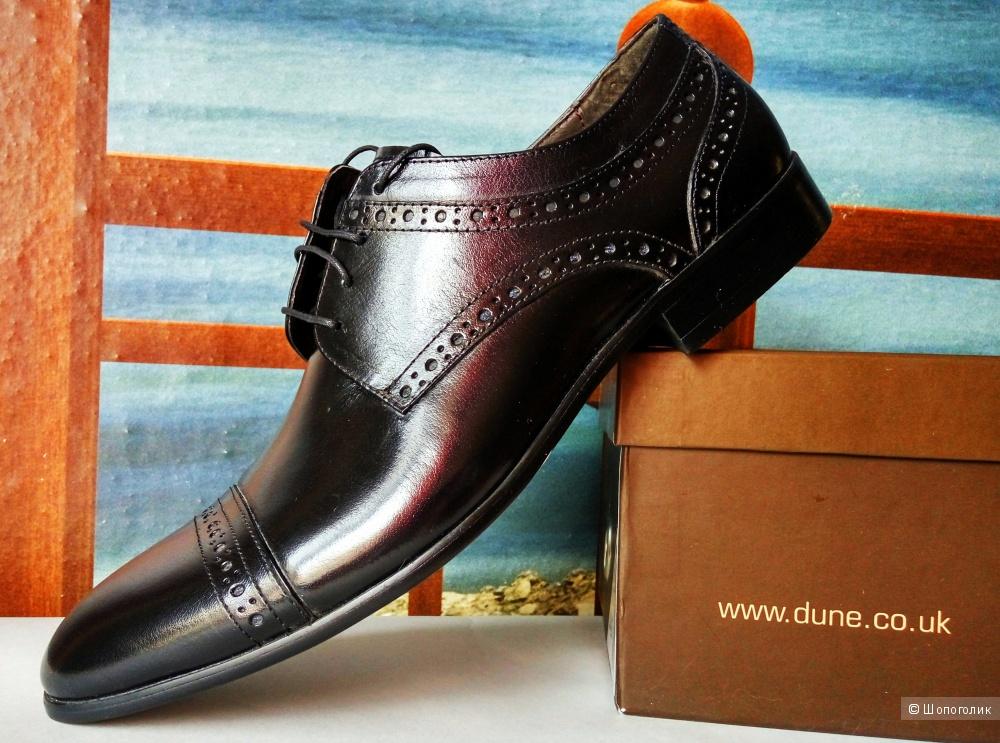 Новые мужские туфли-броги Dune из натуральной кожи