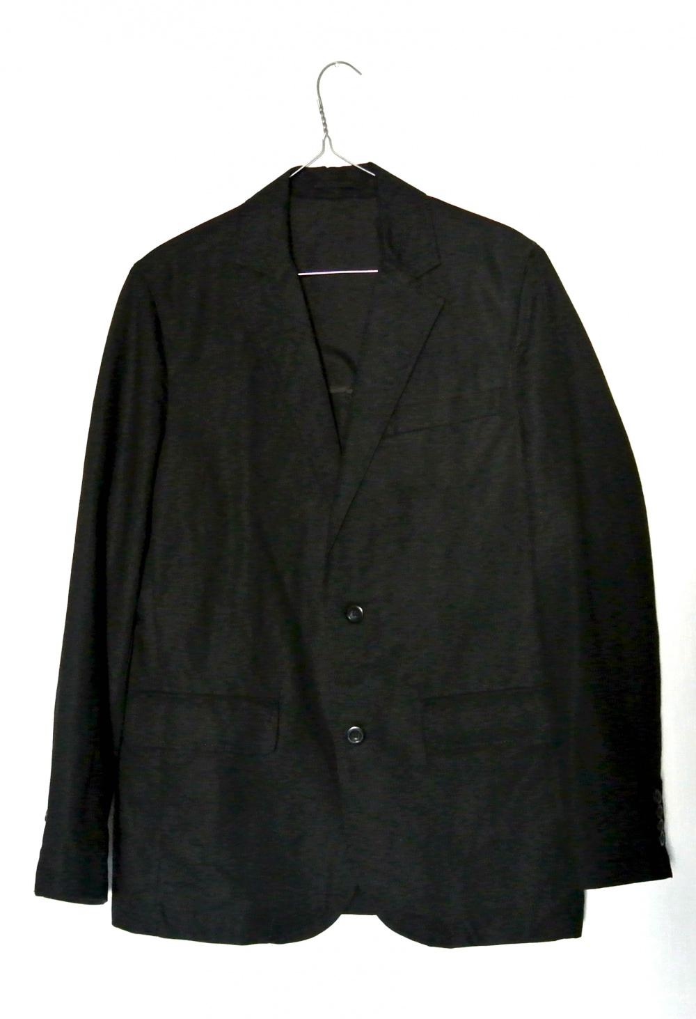 Черный мужской льняной пиджак Old Navi