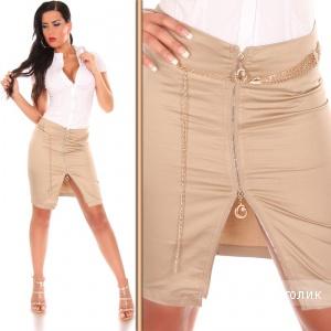 Юбка карандаш с молнией и поясом IN-STYLEFASHION (Sexy Pencil Skirt with Chain-Belt)