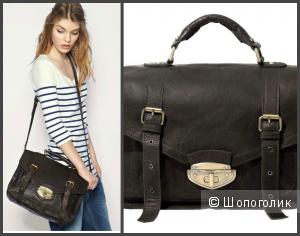 Классный новый кожаный женский портфельчик в винтажном стиле