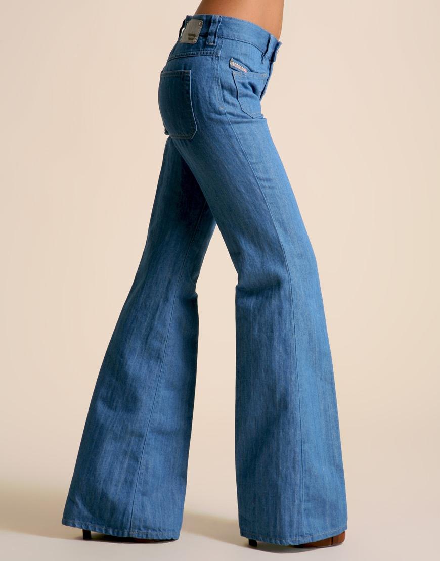 Джинсы Diesel Fluzi 70s Wash Patch Pocket Flare Jean