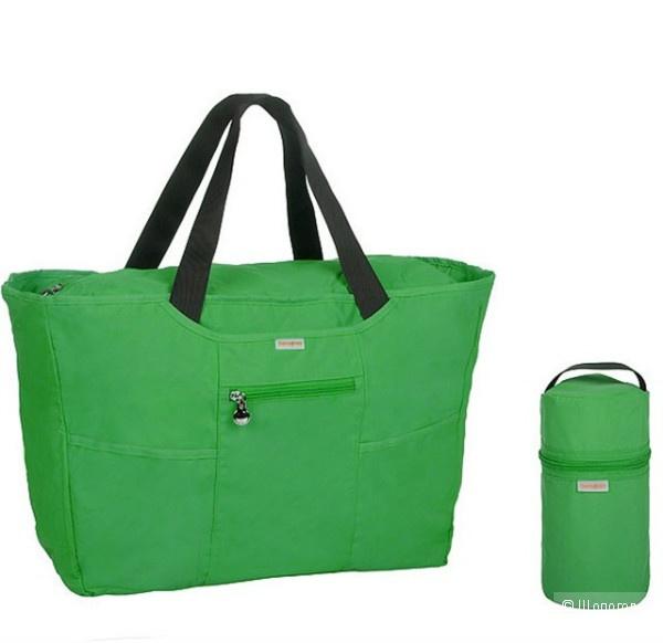 Дорожная сумка Samsonite зеленого цвета