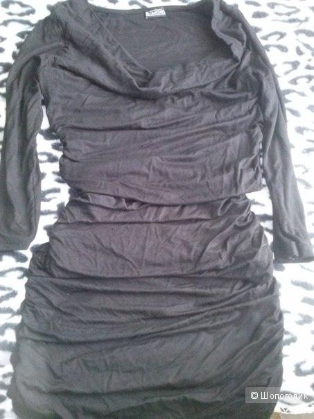 Платье Laura Scott (34) 42 размер (черное!)