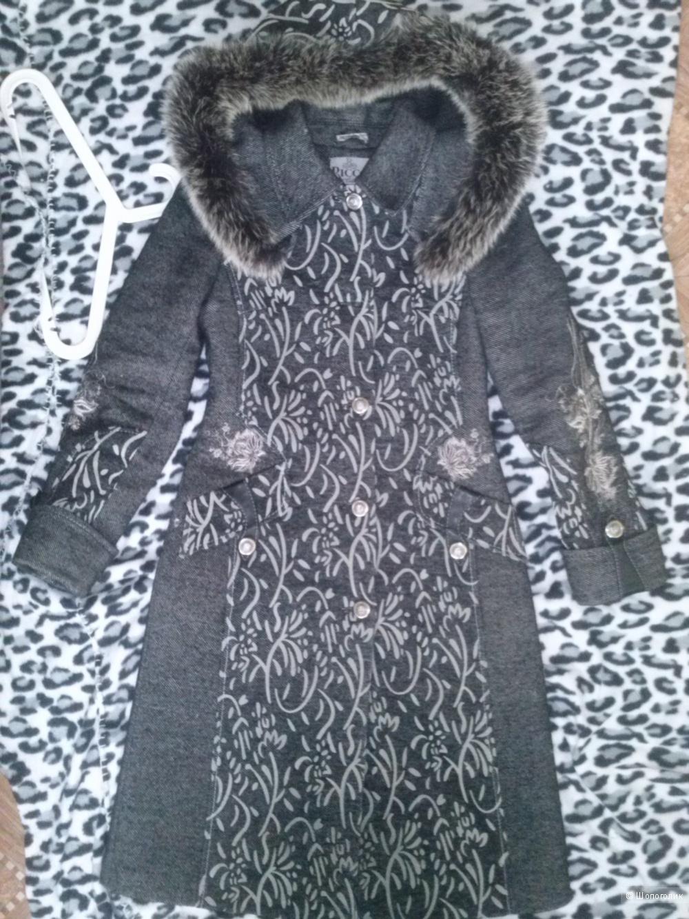Зимнее пальто Ricco на ватине. 44 размер