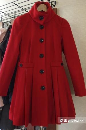 Пальто ASOS  демисезон, красного цвета,42 размер (русский)