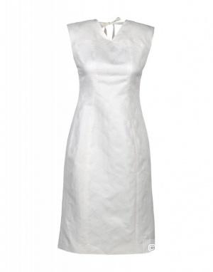 Белое шелковое платье SCHUMACHER 44 размер русский