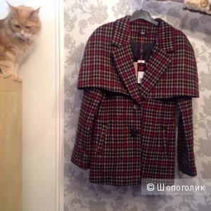 Пальто со съемным кейпом Yumi