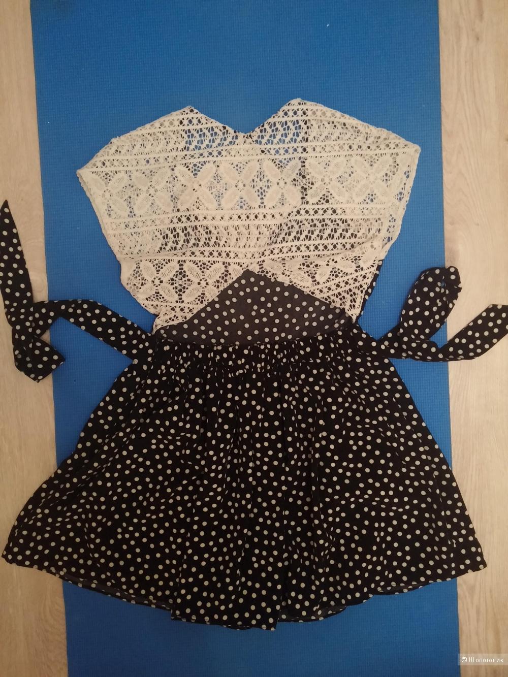 Продам абсолютно новое платье Платье в горошек с кружевами Viva Vena Marfa