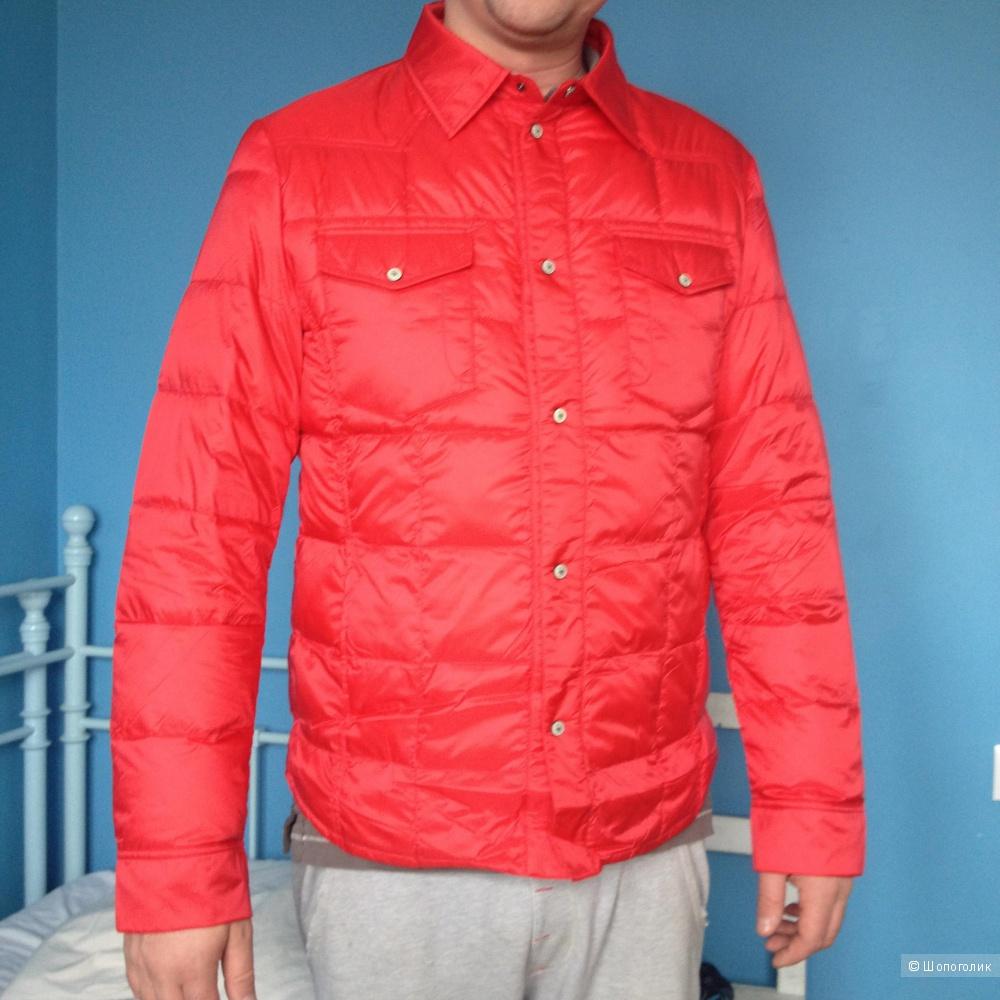 Пуховик-рубашка люксового бренда ODRI, размер 54ит, новая