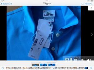 Рубашка-поло Lacoste небесного цвета  38 (42-44)
