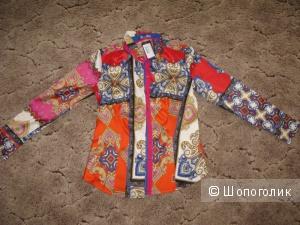 Польская яркая блузка с шелком 46-48-50 размер