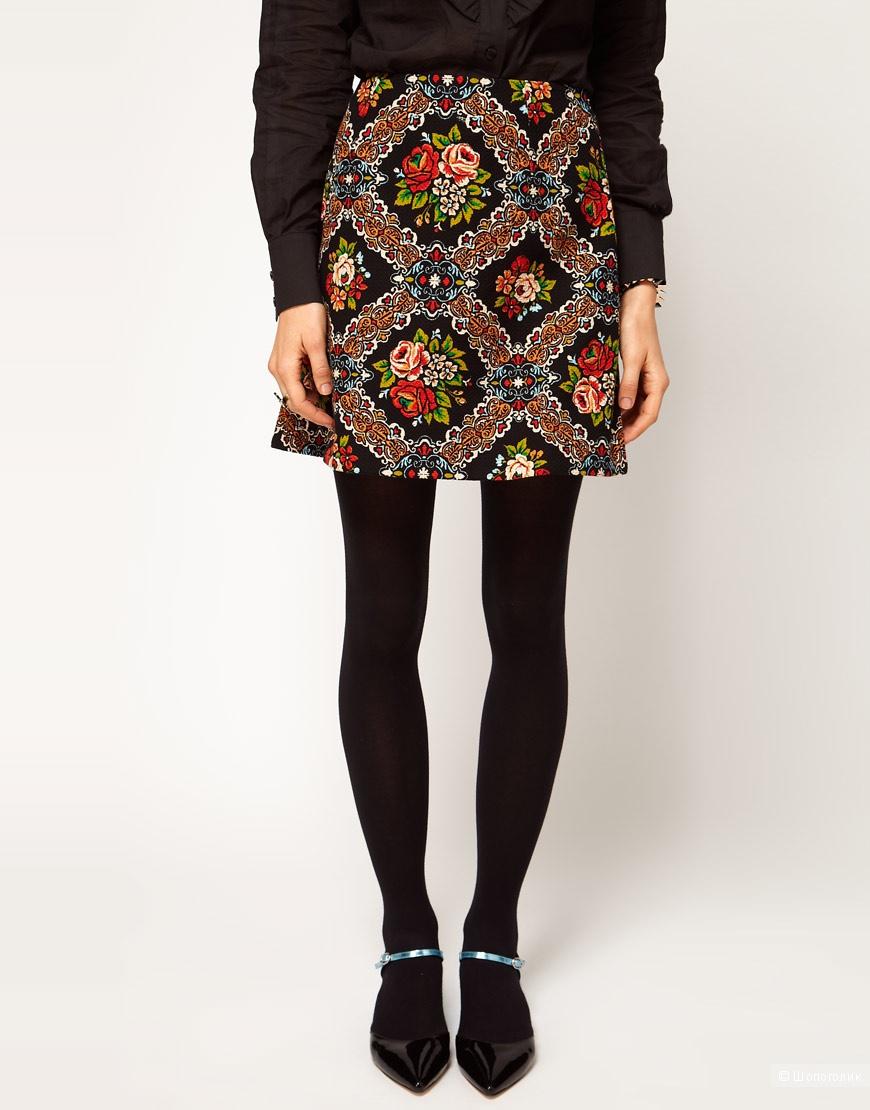 Красивая цветочная юбочка Asos