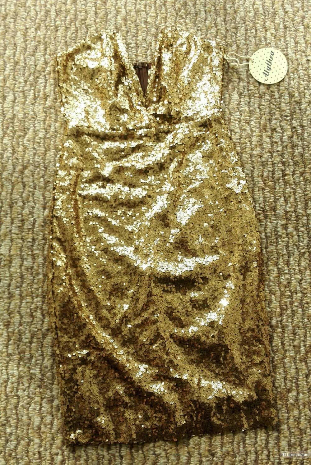 Золотое платье в пайетках