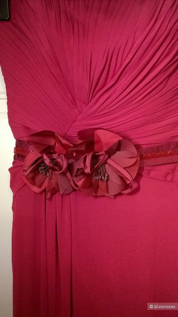 Брусничное maxi платье Coast (XS)