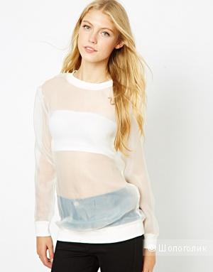 Новая прозрачная блузка Lavish Alice UK12