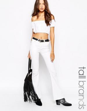 Белые джинсы Glamorous Tall Denim Flare, размер UK12