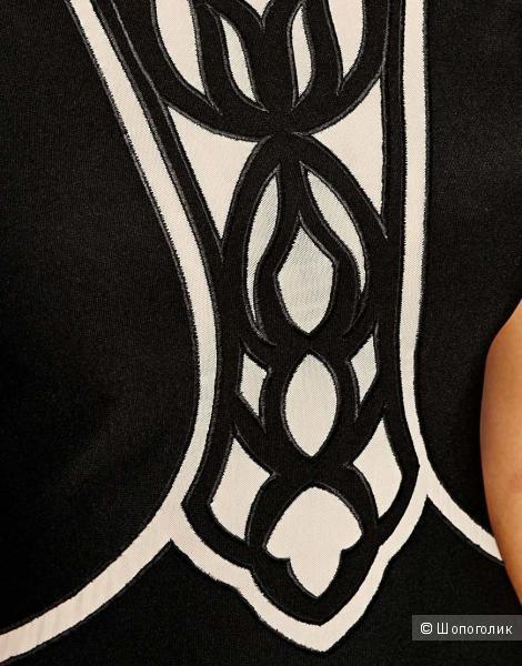 Облегающее платье с сетчатыми вставками Lipsy