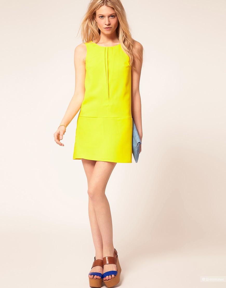 Цельнокройное платье с плиссировкой эксклюзивно для ASOS PETITE
