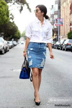Популярная джинсовая юбка Asos