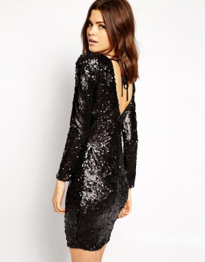 Красивое платье в пайетках Lipsy