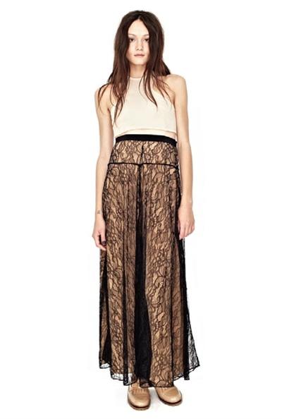 Роскошная кружевная юбка макси SHAKUHACHI