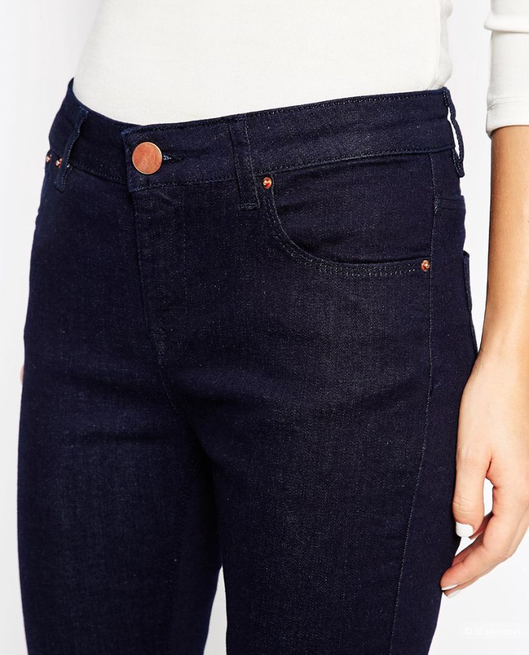 Джинсы Asos Baby Kick Flare in clean Indigo