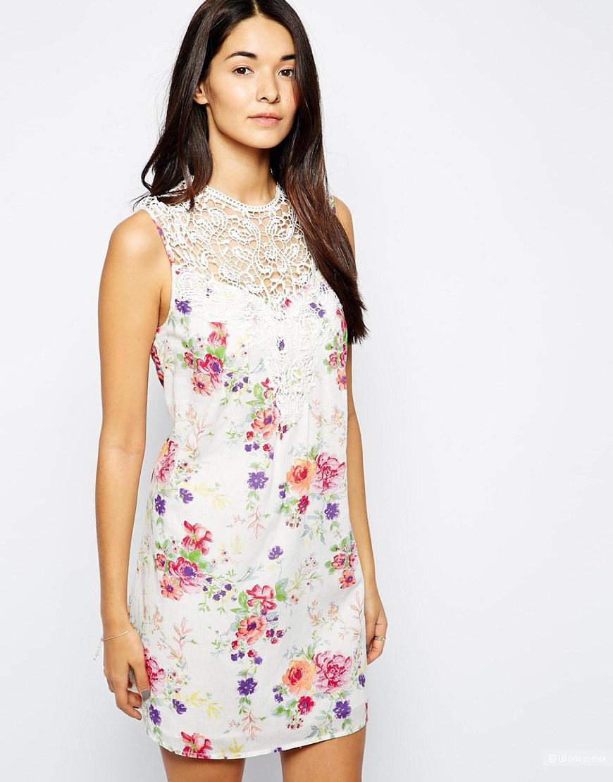 Vero Moda платье с кружевной вставкой