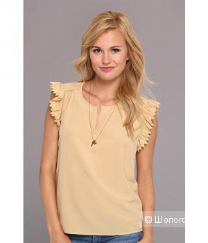 Шелковая блузка цвета топленого молока, размер m, Maison Scotch, размер m-l, подвеска в комплекте