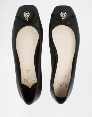 Новые черные кожаные балетки Faith Austin
