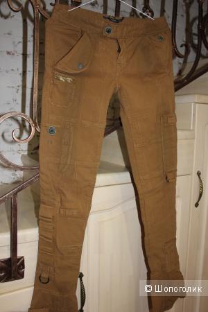 Джинсовые брюки Ralph Lauren р 26 (горчичного цвета)