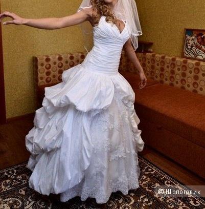 Свадебное платье на низкой посадке