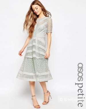 Нарядное кружевное платье миди ASOS PETITE Premium 36 EU / 8 UK