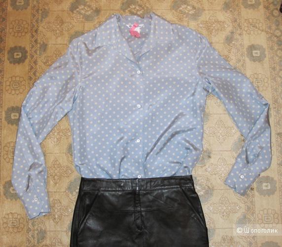 Шелковая рубашка в горох Loro Piana, 46IT