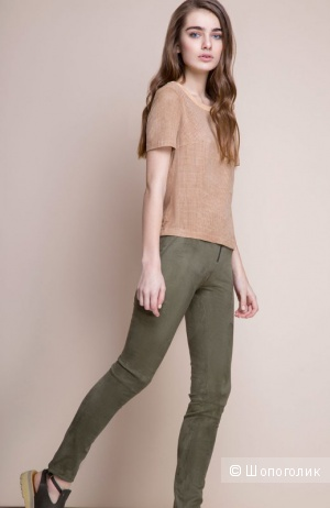 Замшевые брюки-джегенсы balunova 40-42