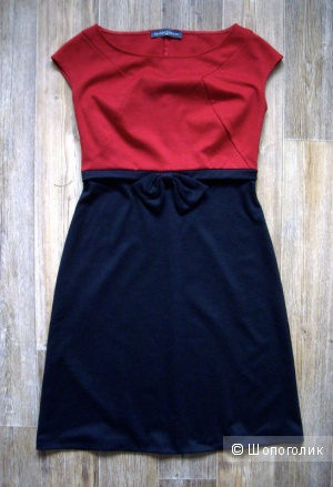 Платье 44-46 красно-синее,трикотаж sandro ferrone