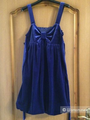 Синее платье с низом колокольчик, XS/S