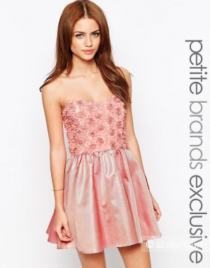 Платье бандо для выпускного John Zack Petite UK6