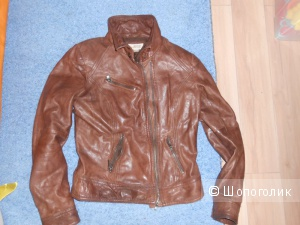 Кожаная куртка Bershka M  (44-46-48) Смотреть замеры внизу