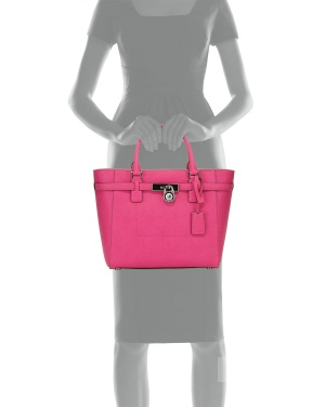 MICHAEL Michael Kors Hamilton Large Tote Bag, Raspberry