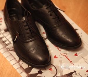 Новые кожаные туфли-броги New Look р-р UK9 (42/43)