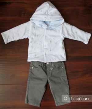Нежно-голубая двухсторонняя куртка Absorba 3-6 мес