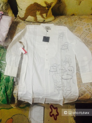 Продаю белую рубашку-тунику