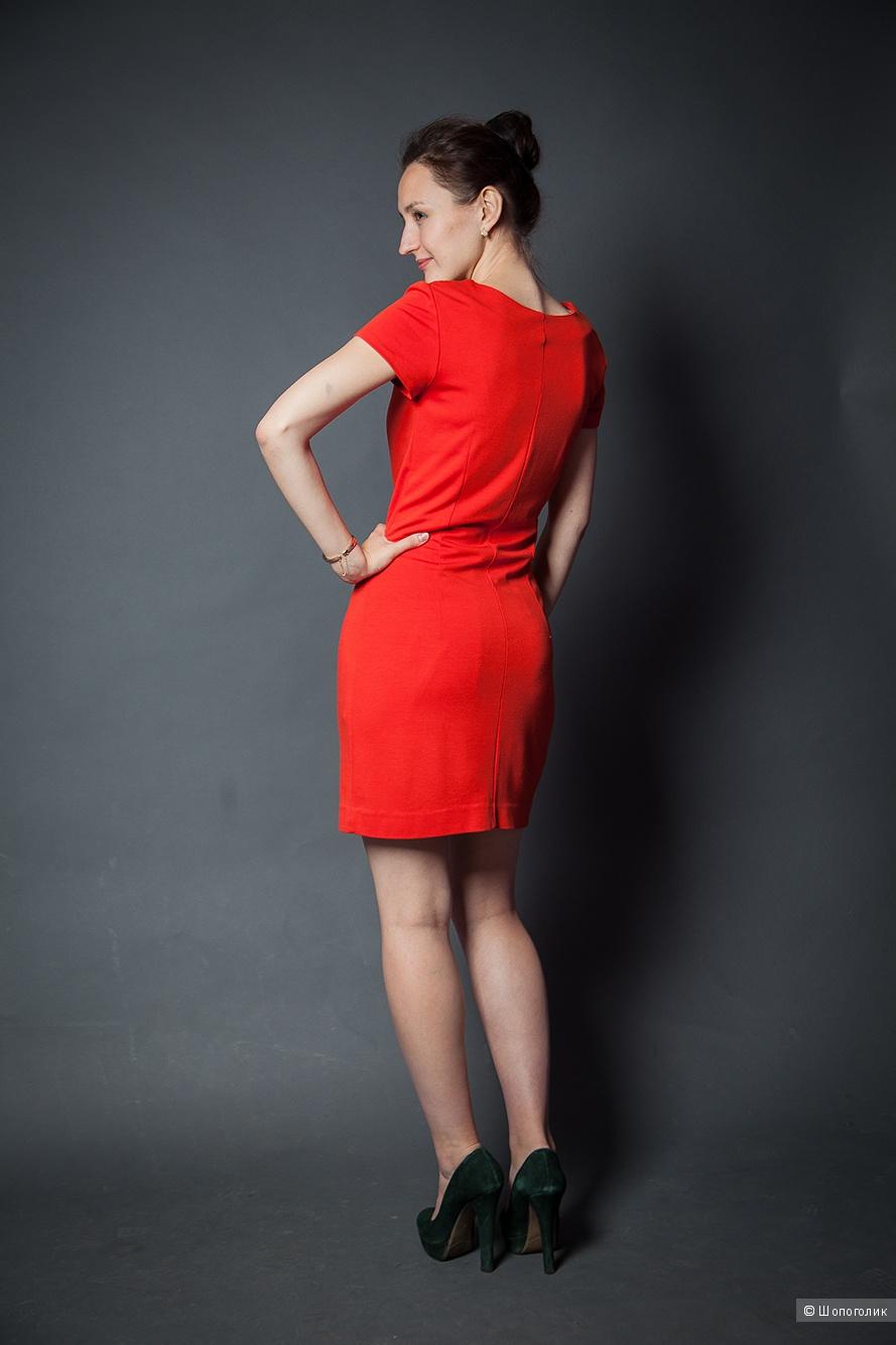 Трикотажное платье кораллового цвета TATUUM/размер UK 34/RUS 42