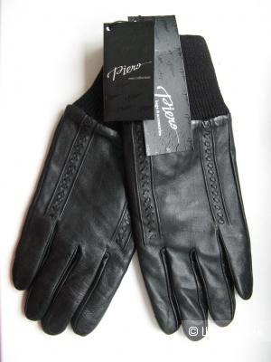 Перчатки черные р-р 10, кожа натуральная